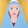 Madonnina della luce - 2015 - acrilico su legno - cm 23 x 17