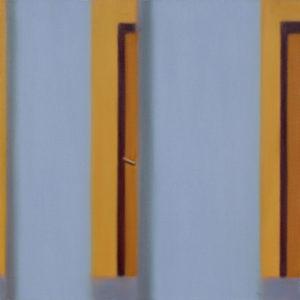 la maniglia, 2016, olio su tela, 50 x 50 cm   19.7 x 19.7 in