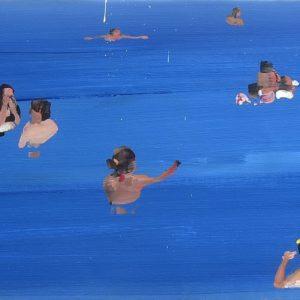 Daniele Galliano, 2019, Let'sGo #4, oil on canvas, cm 32x150, 12.6 x 59 in-small