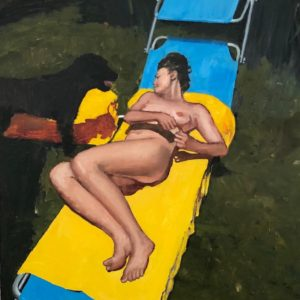 Daniele Galliano, 2019,Untitled#1, oil on board,40 x 30,15.7x11.8 in cm, -small