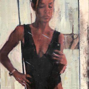 Daniele Galliano, 2019,Untitled#2, oil on board,40 x 30,15.7x11.8 in cm, -small