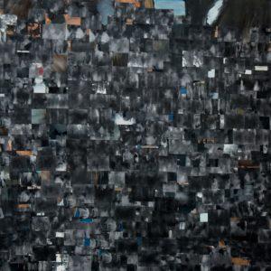 Daniele Galliano, over pollution, 2014, olio su tela, cm200x300 -small